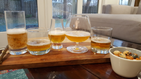 From left to right: Sapporo, Orion, Kirin, Hitachino, Asahi